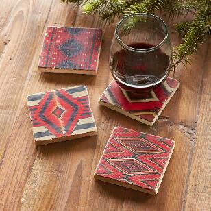 TRIBAL DESIGNS COASTERS, SET OF 4