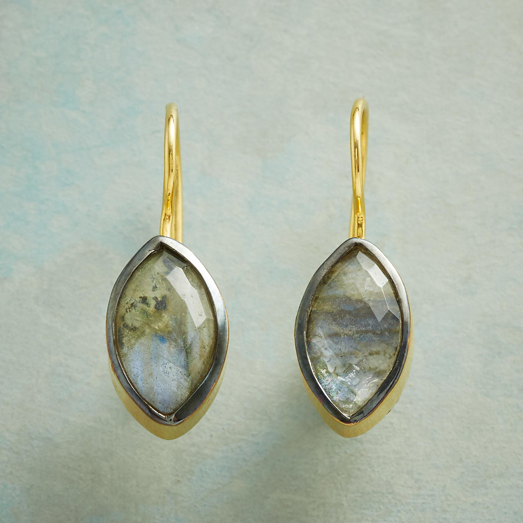 LABRADORITE DOUBLET EARRINGS: View 1