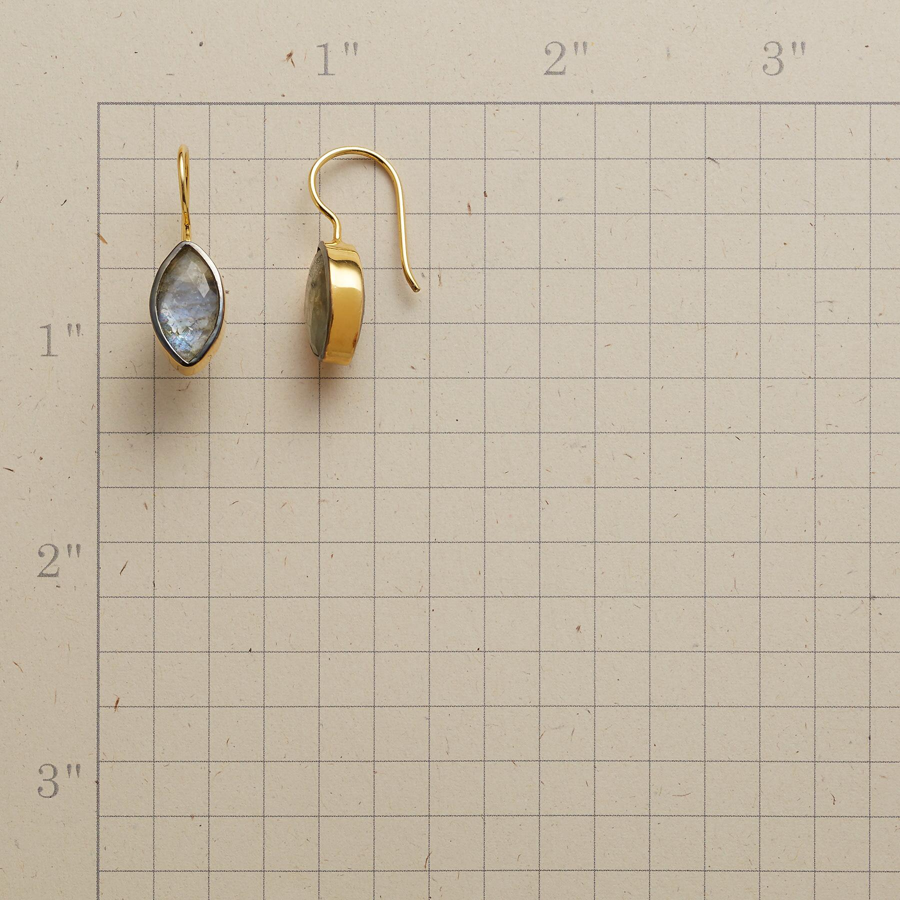 LABRADORITE DOUBLET EARRINGS: View 2