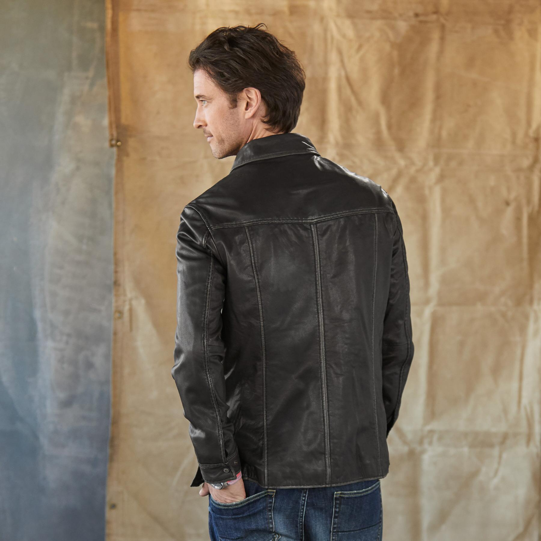 RHODES II LEATHER JACKET: View 3