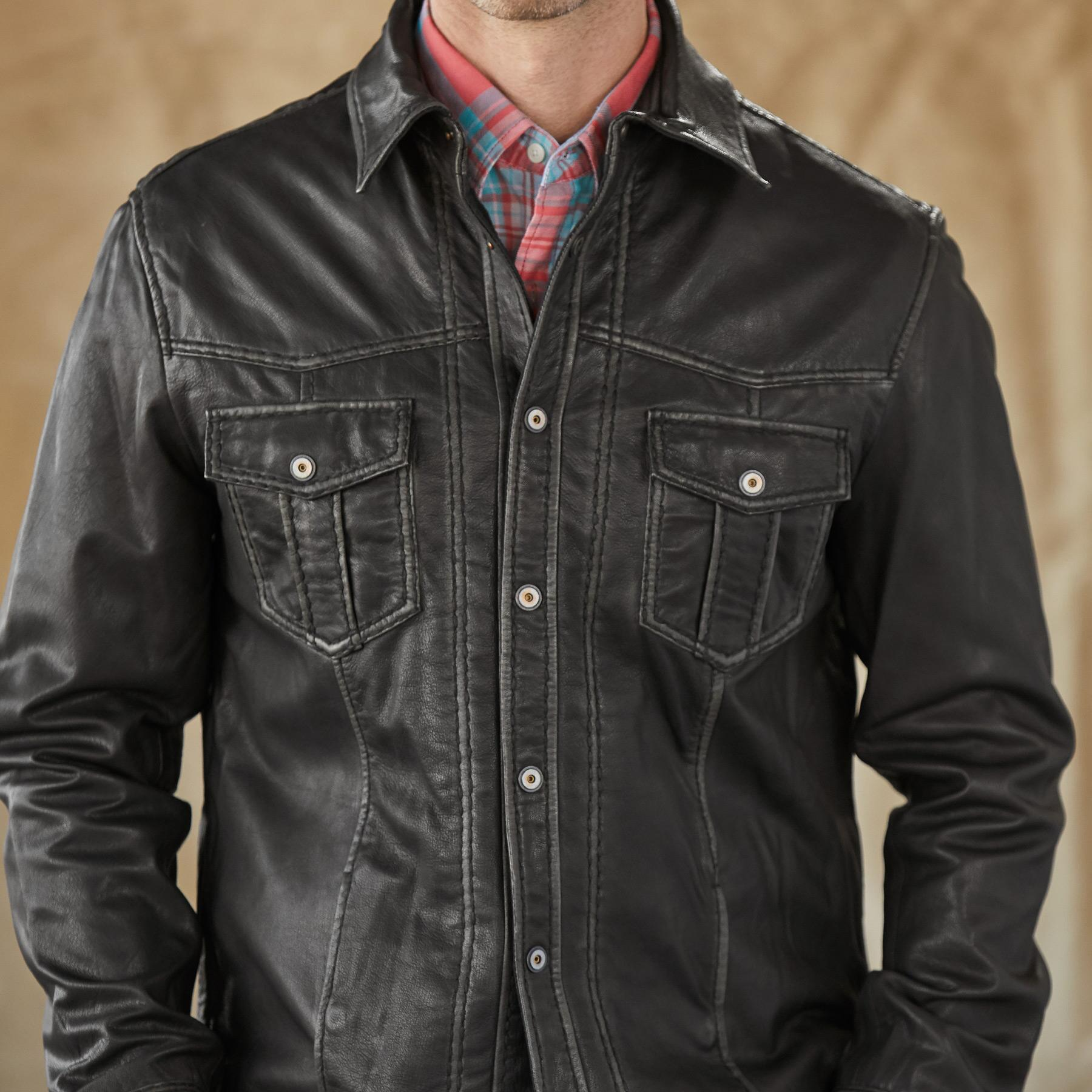 RHODES II LEATHER JACKET: View 4