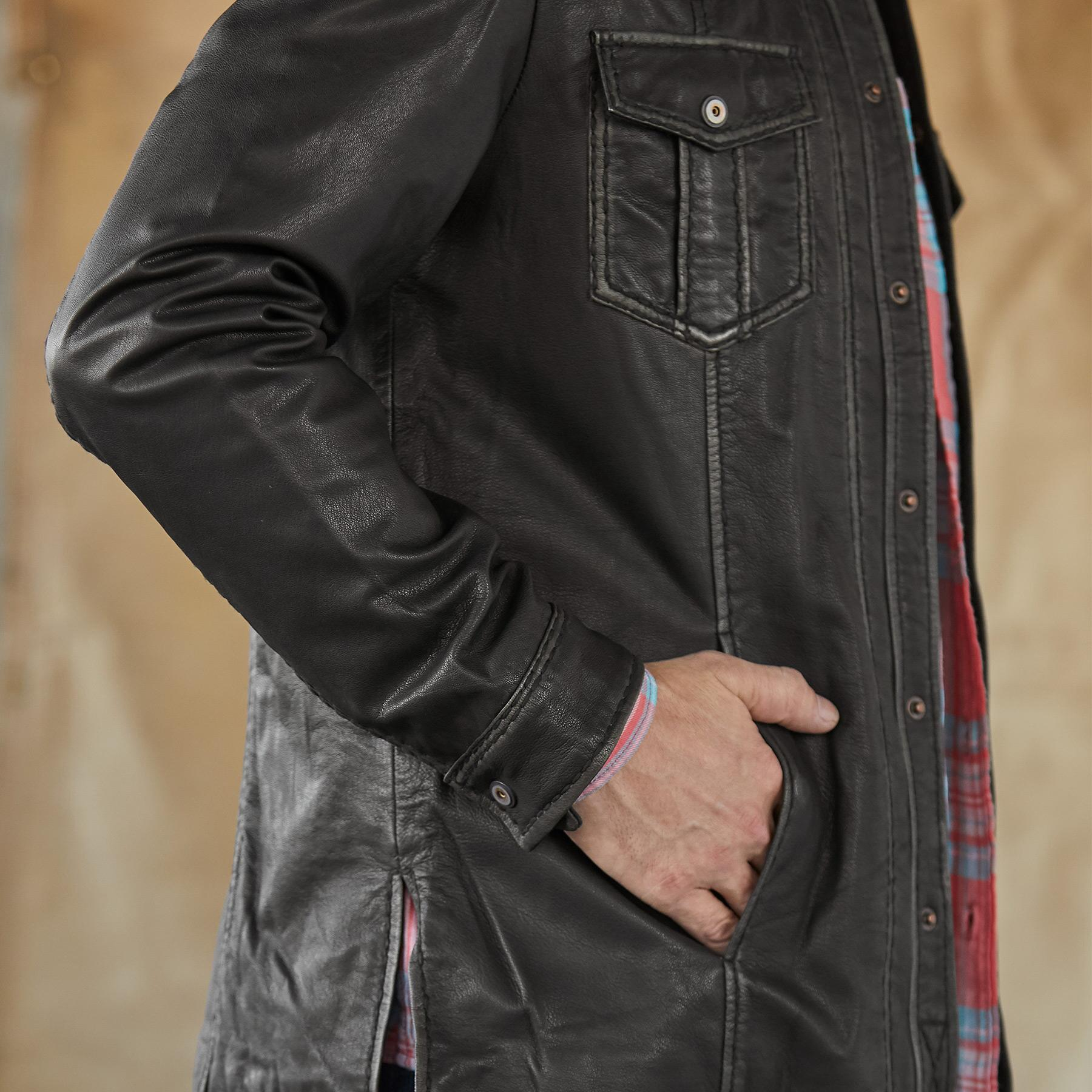RHODES II LEATHER JACKET: View 5