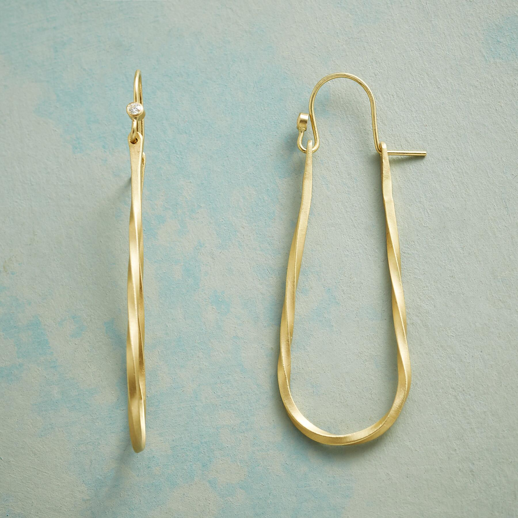 TWINKLING LOOP EARRINGS: View 1