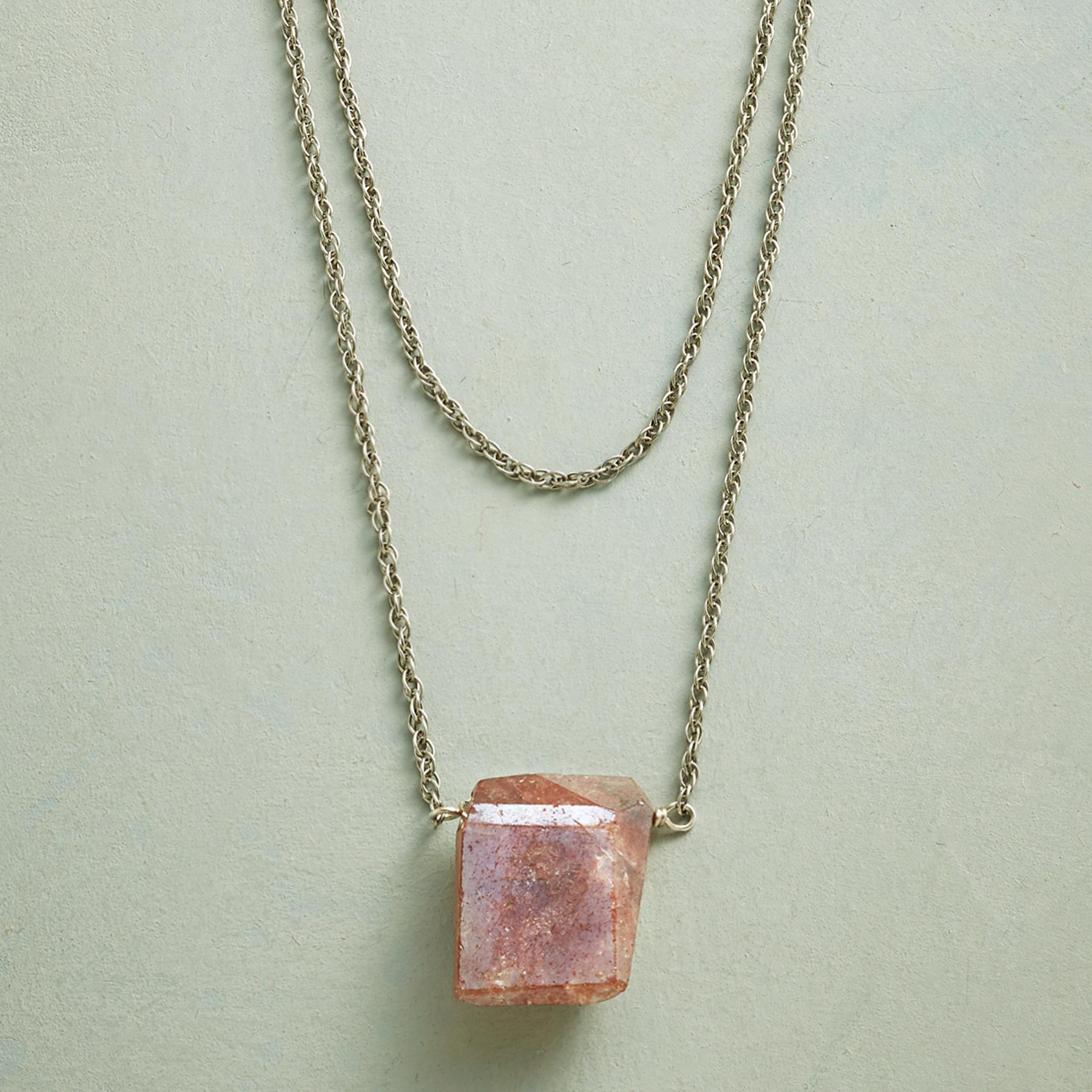 SUNSTONE BRIQUETTE NECKLACE: View 1