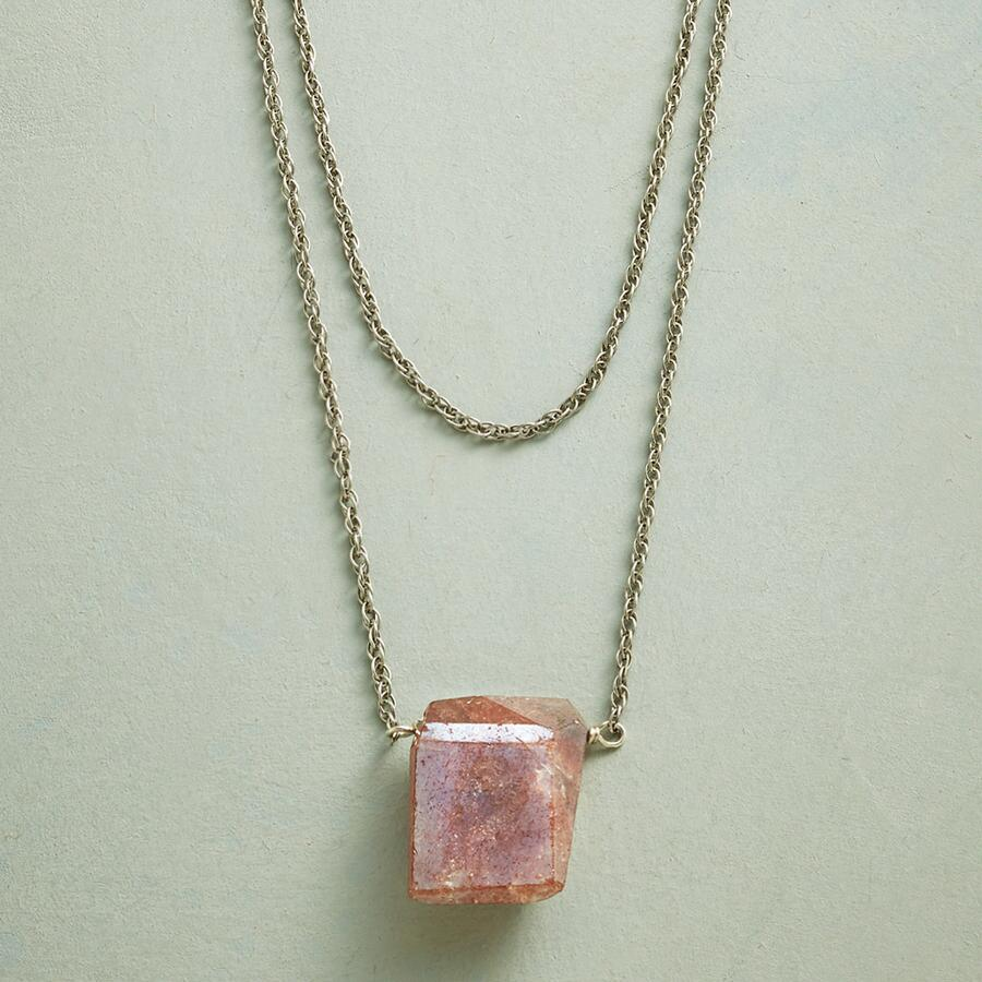 SUNSTONE BRIQUETTE NECKLACE