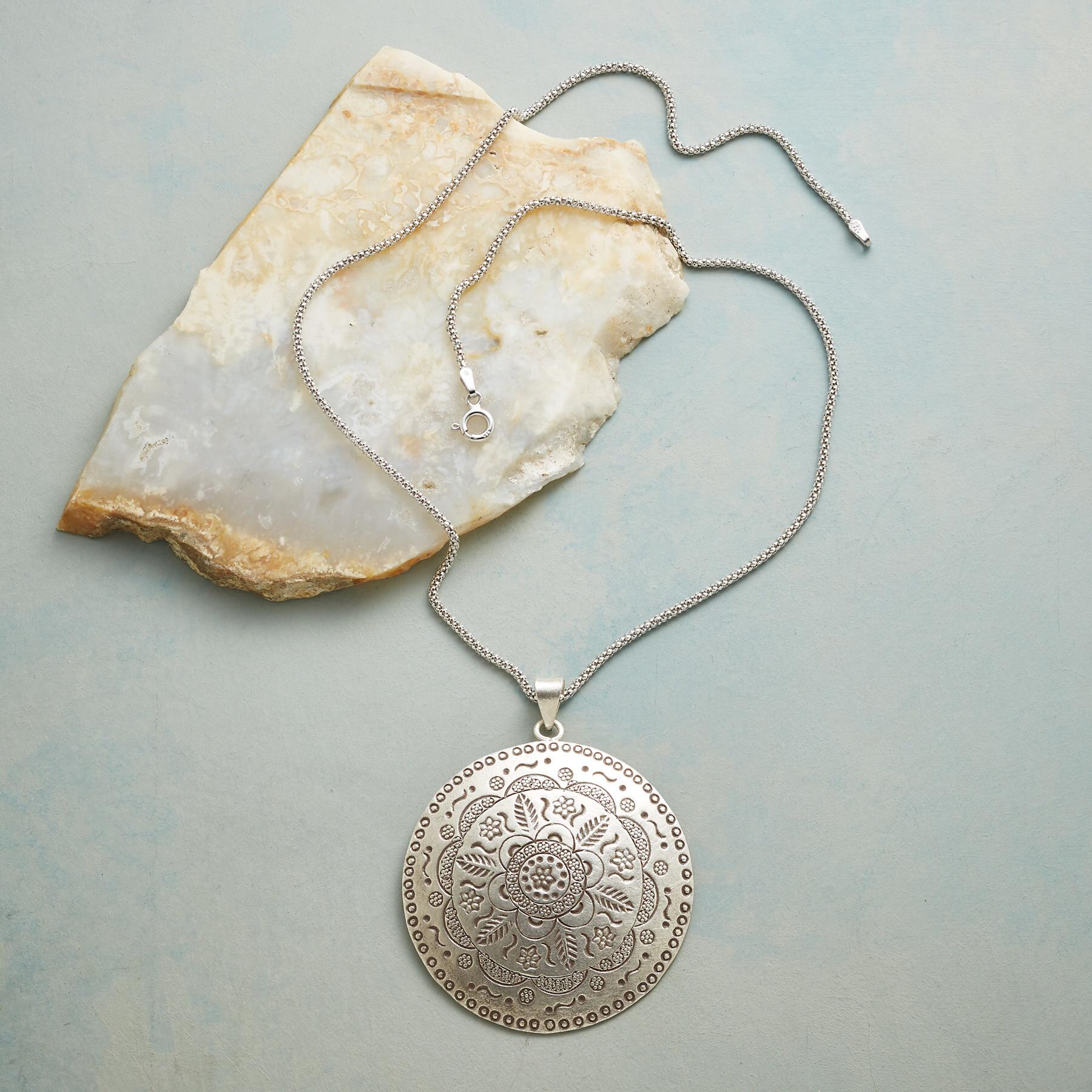 MAYA MEDALLION NECKLACE: View 2