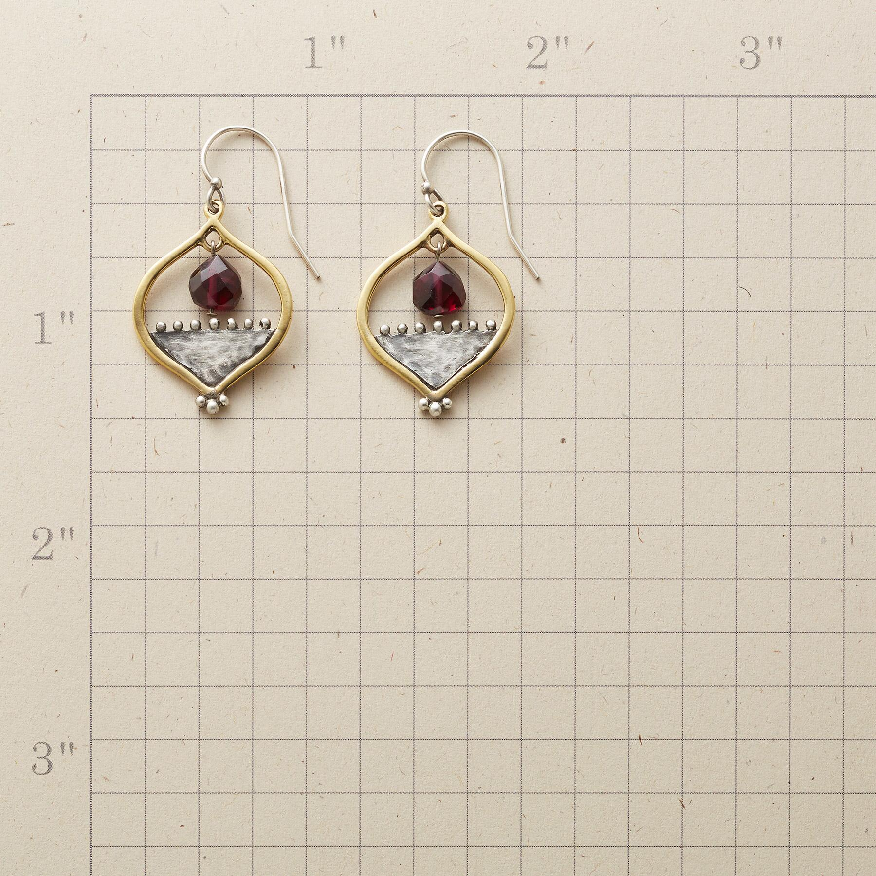 GARNET RISING EARRINGS: View 2