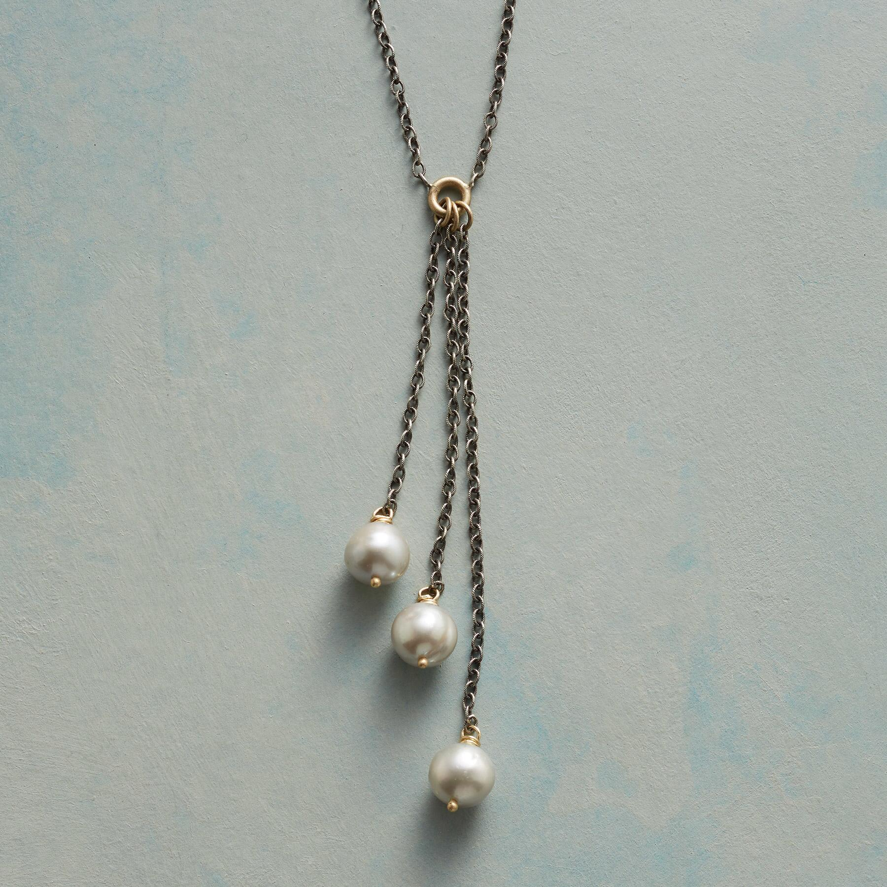 PEARL TRINITY NECKLACE: View 1