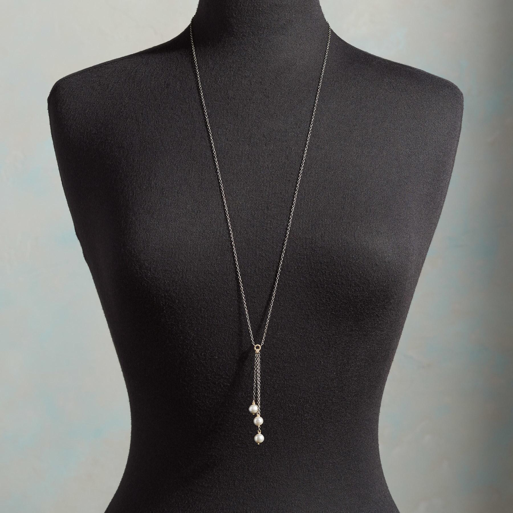 PEARL TRINITY NECKLACE: View 3