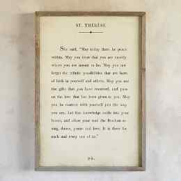 WORDS OF WISDOM PRINT BY ST. THÉRÈSE