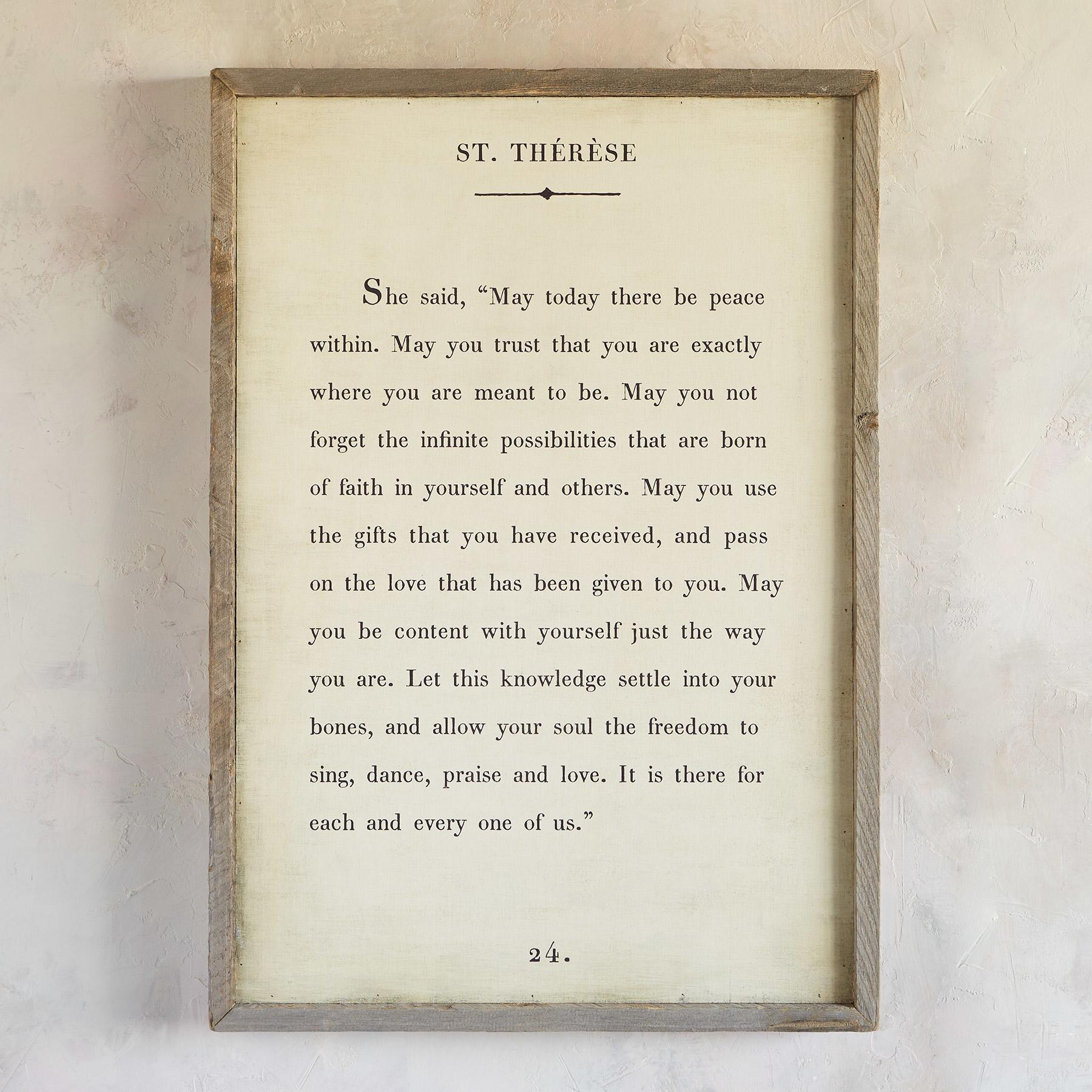 WORDS OF WISDOM PRINT BY ST. THÉRÈSE      2X3