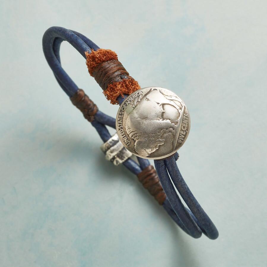 BUFFALO BLUE BRACELET