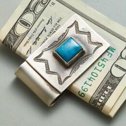 TURQUOISE TRAILS MONEY CLIP