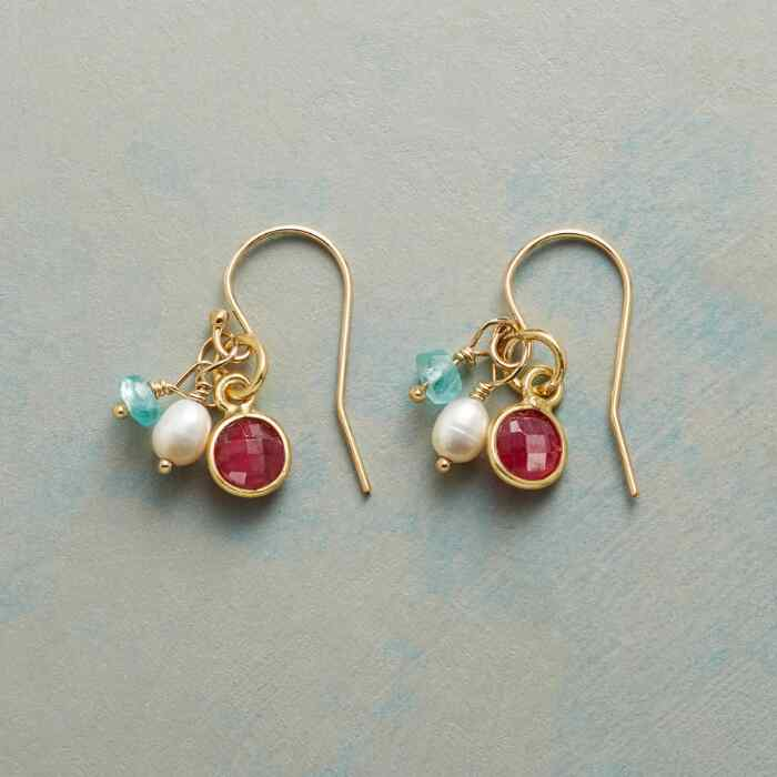 MOONLIGHT AND ROSES EARRINGS