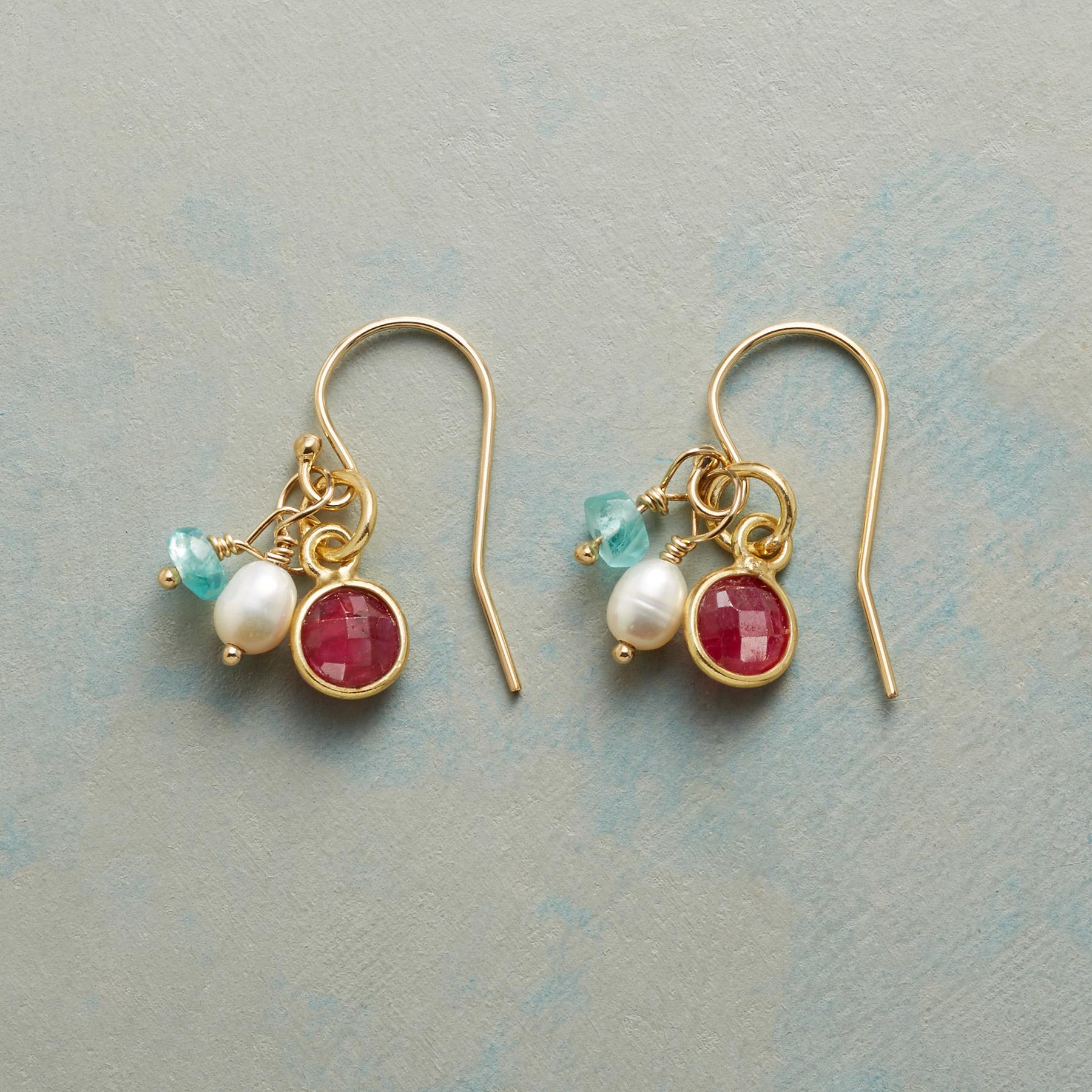 MOONLIGHT AND ROSES EARRINGS: View 1