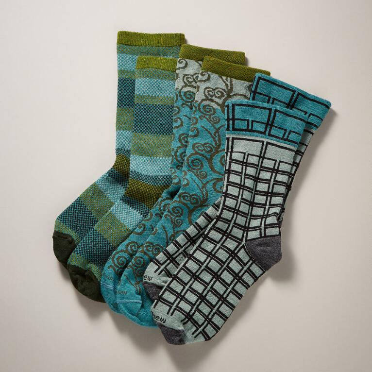 DAWN & DUSK SOCKS, SET OF 3