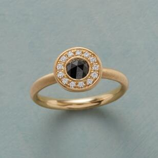 BLACK ROSE RING