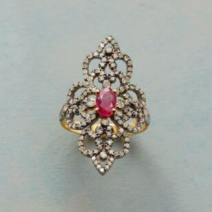 RUBY DIAMOND RENAISSANCE RING