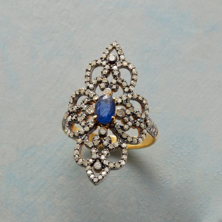 SAPPHIRE DIAMOND RENAISSANCE RING