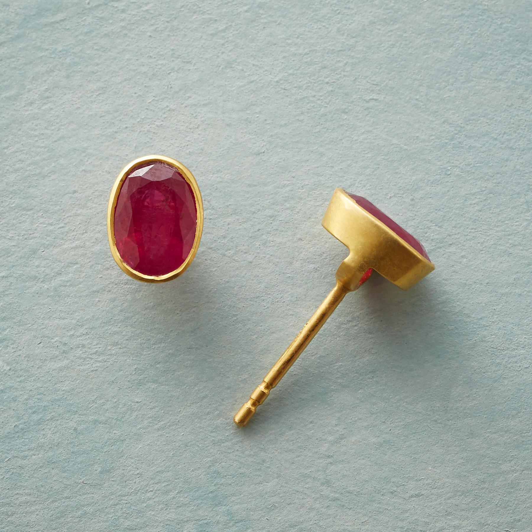 RUBY ARC EARRINGS: View 1