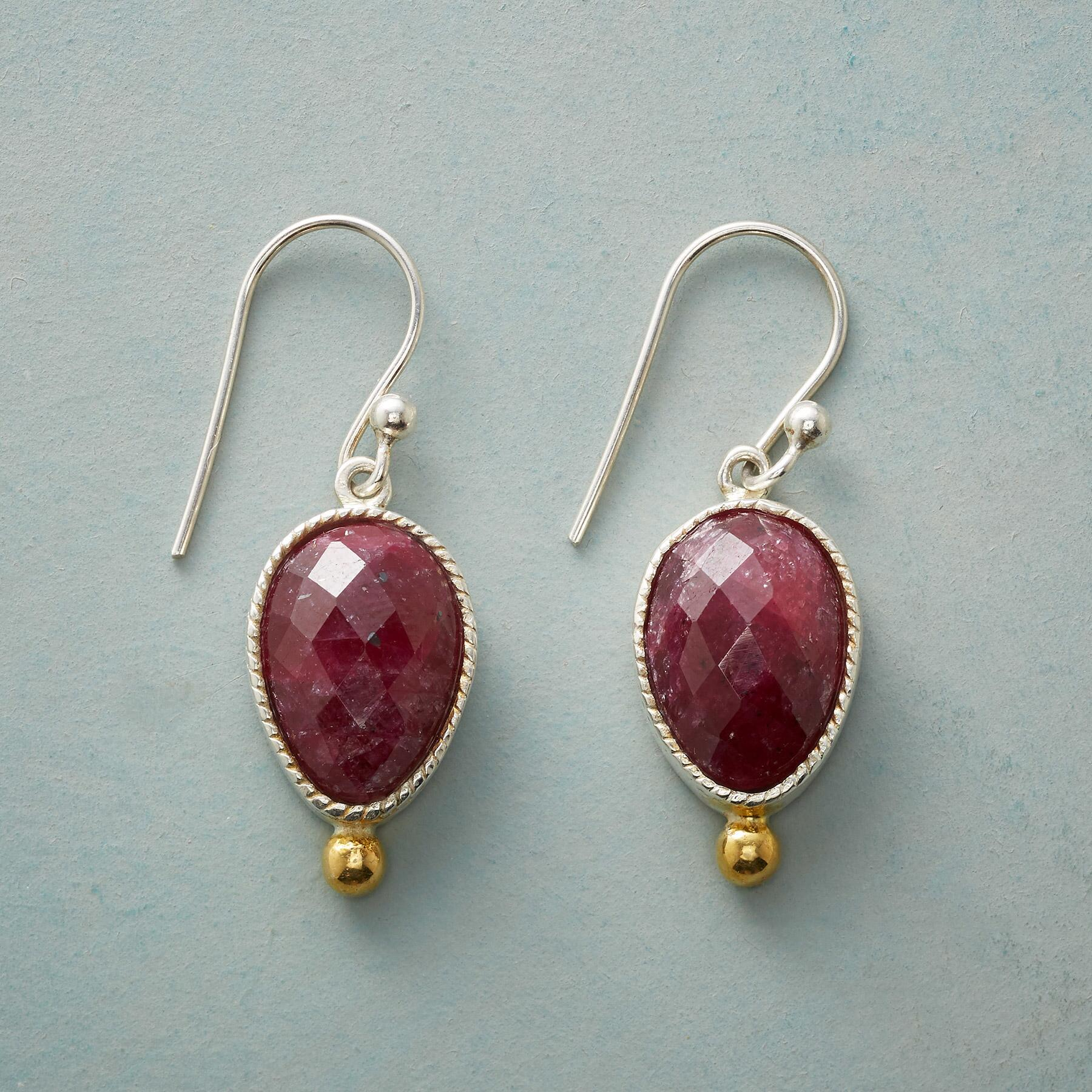 SAWTOOTH RUBY EARRINGS: View 1