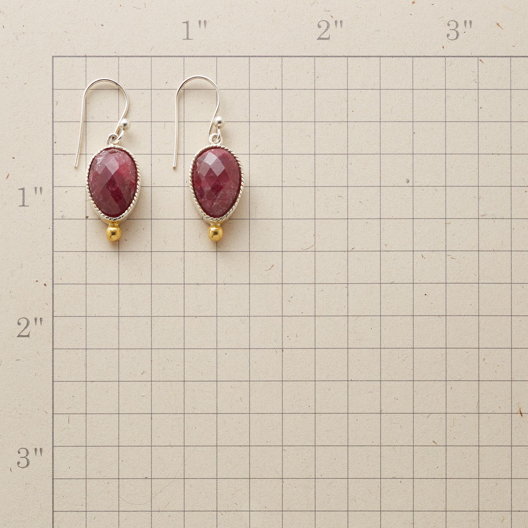 SAWTOOTH RUBY EARRINGS: View 2
