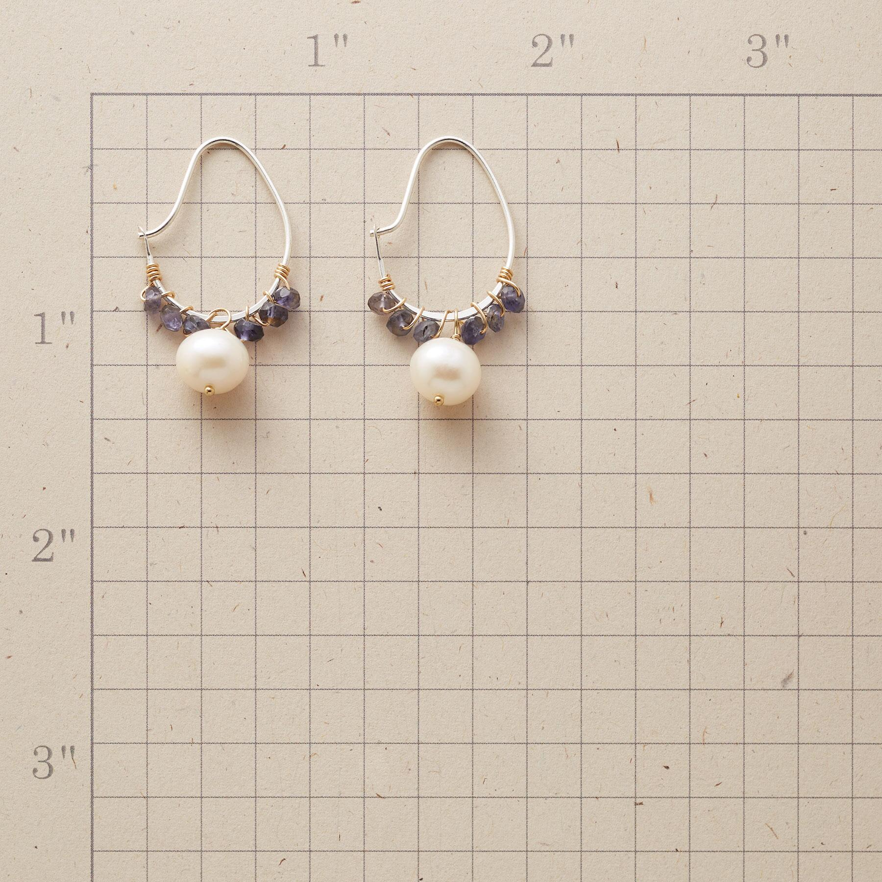 IOLITE SWOOP HOOP EARRINGS: View 2