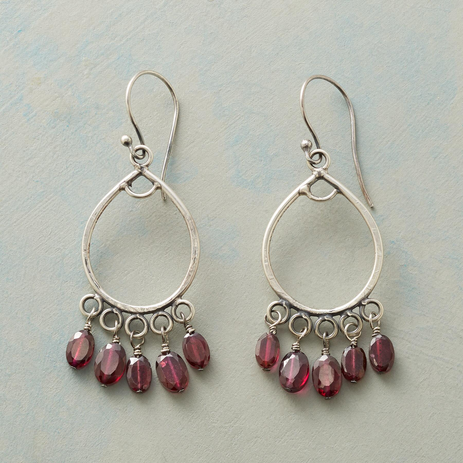 FIVE GARNET EARRINGS: View 1