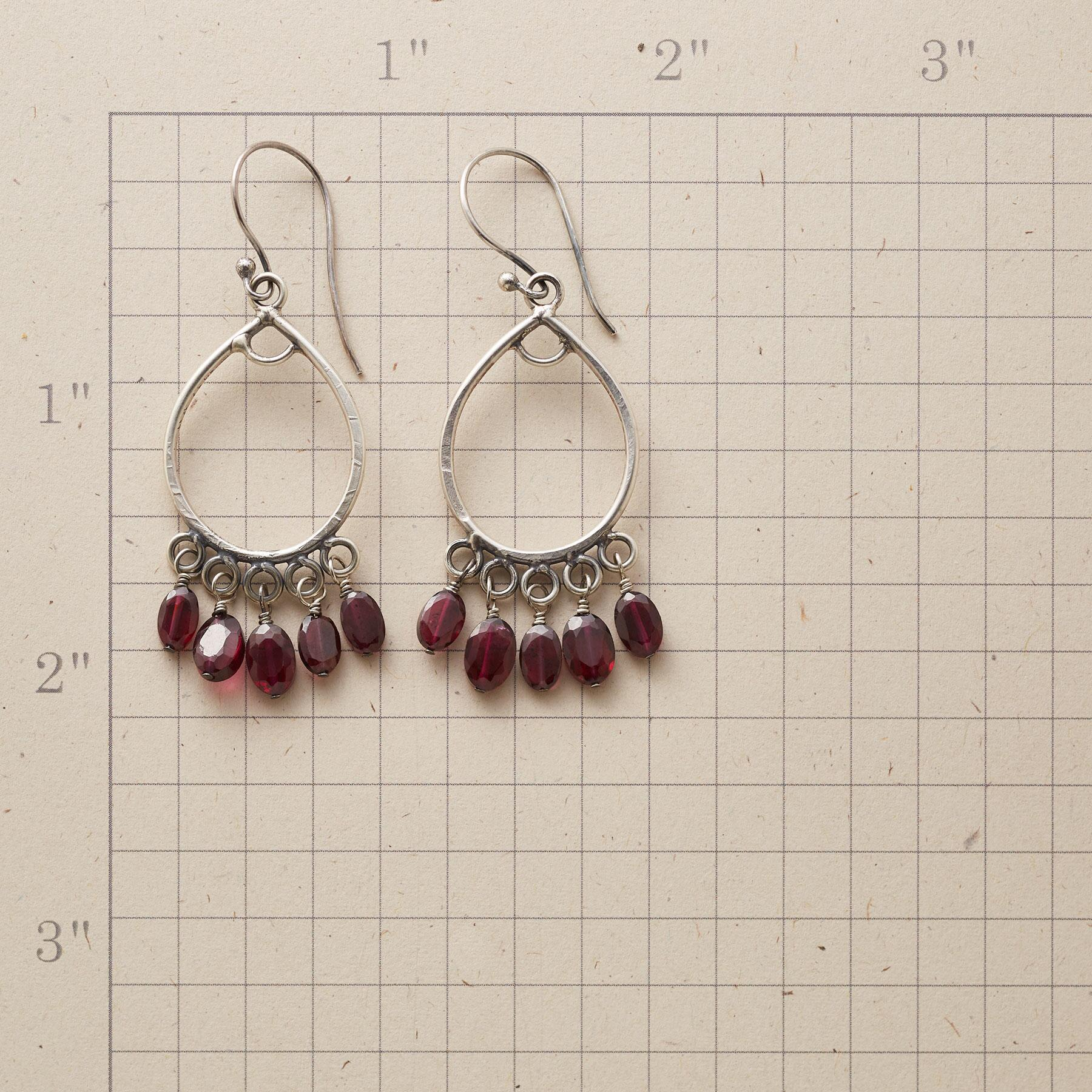 FIVE GARNET EARRINGS: View 2