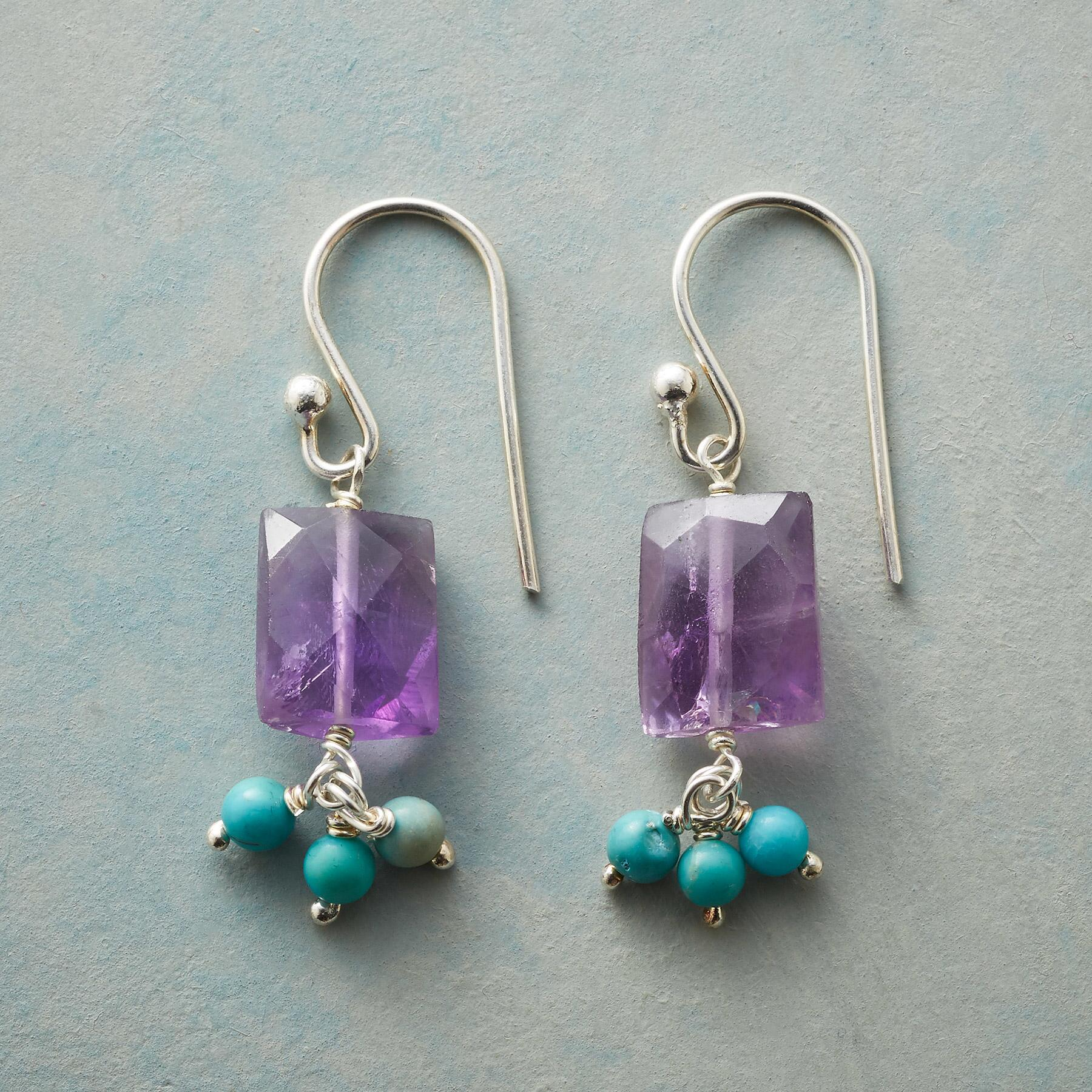 AMETHYST WIND CHIME EARRINGS: View 1