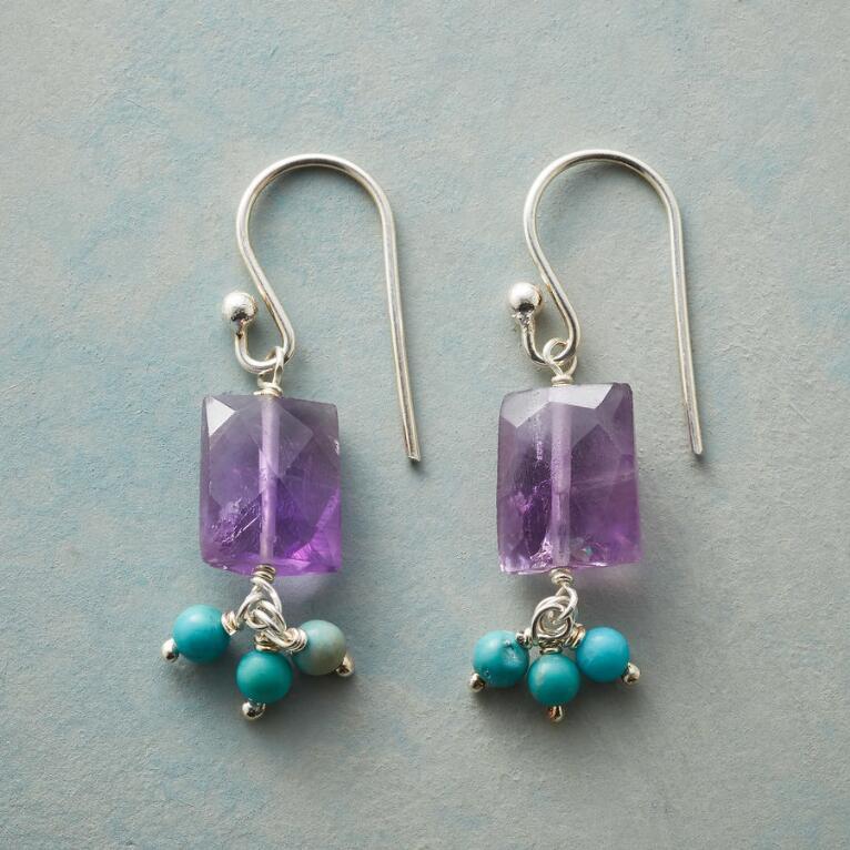 AMETHYST WIND CHIME EARRINGS