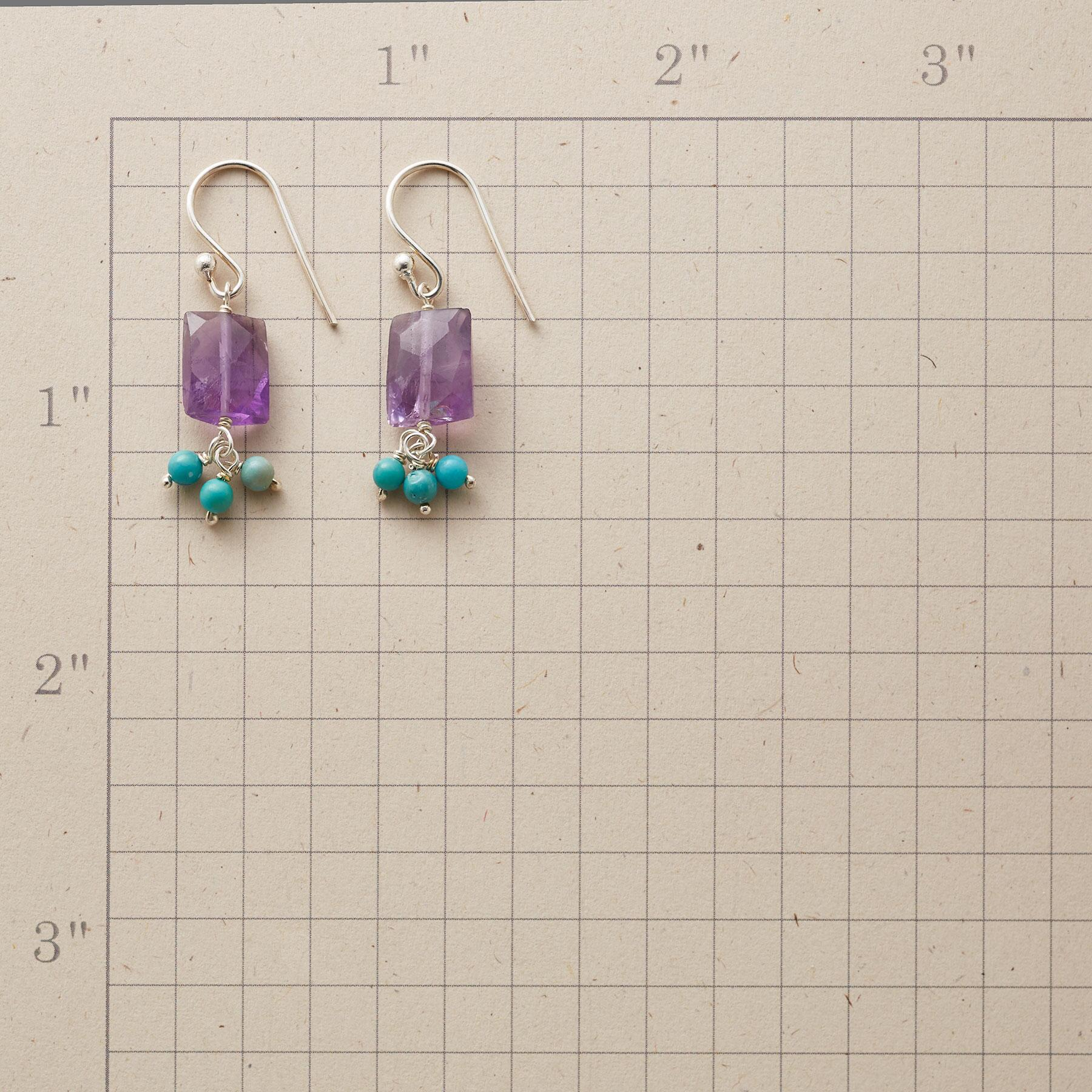 AMETHYST WIND CHIME EARRINGS: View 2