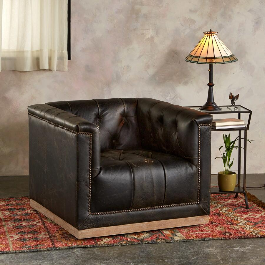 WESTERLY LEATHER CLUB CHAIR