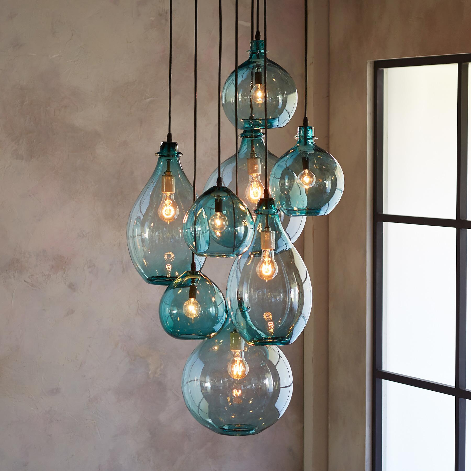 SALON GLASS CANOPY PENDANT LIGHT: View 1