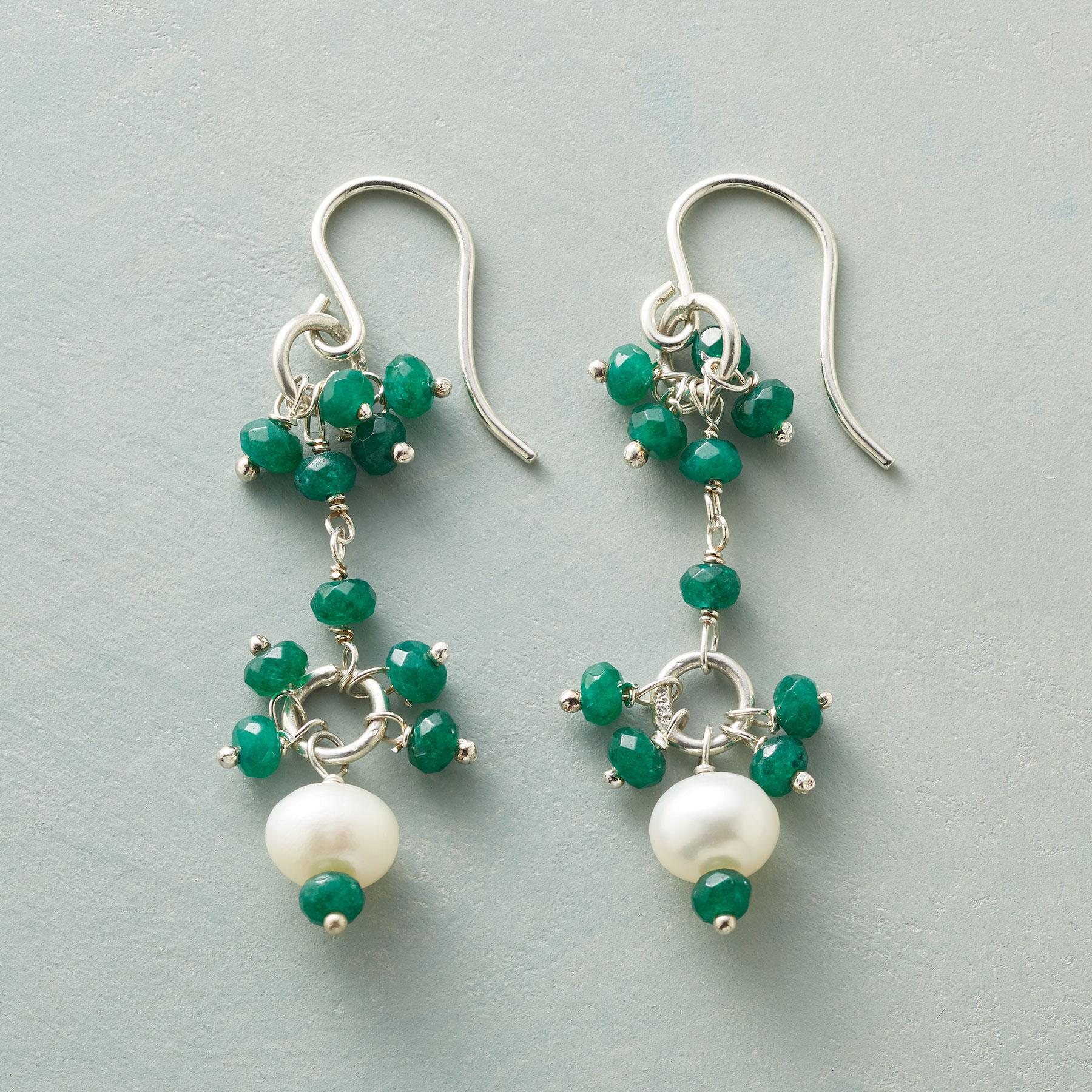EMERALD EYELET EARRINGS: View 1
