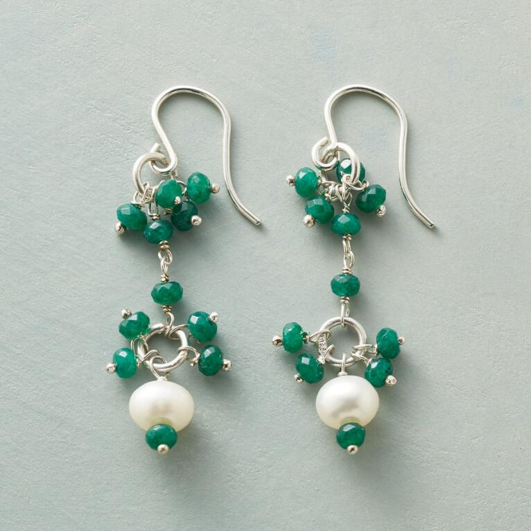 EMERALD EYELET EARRINGS