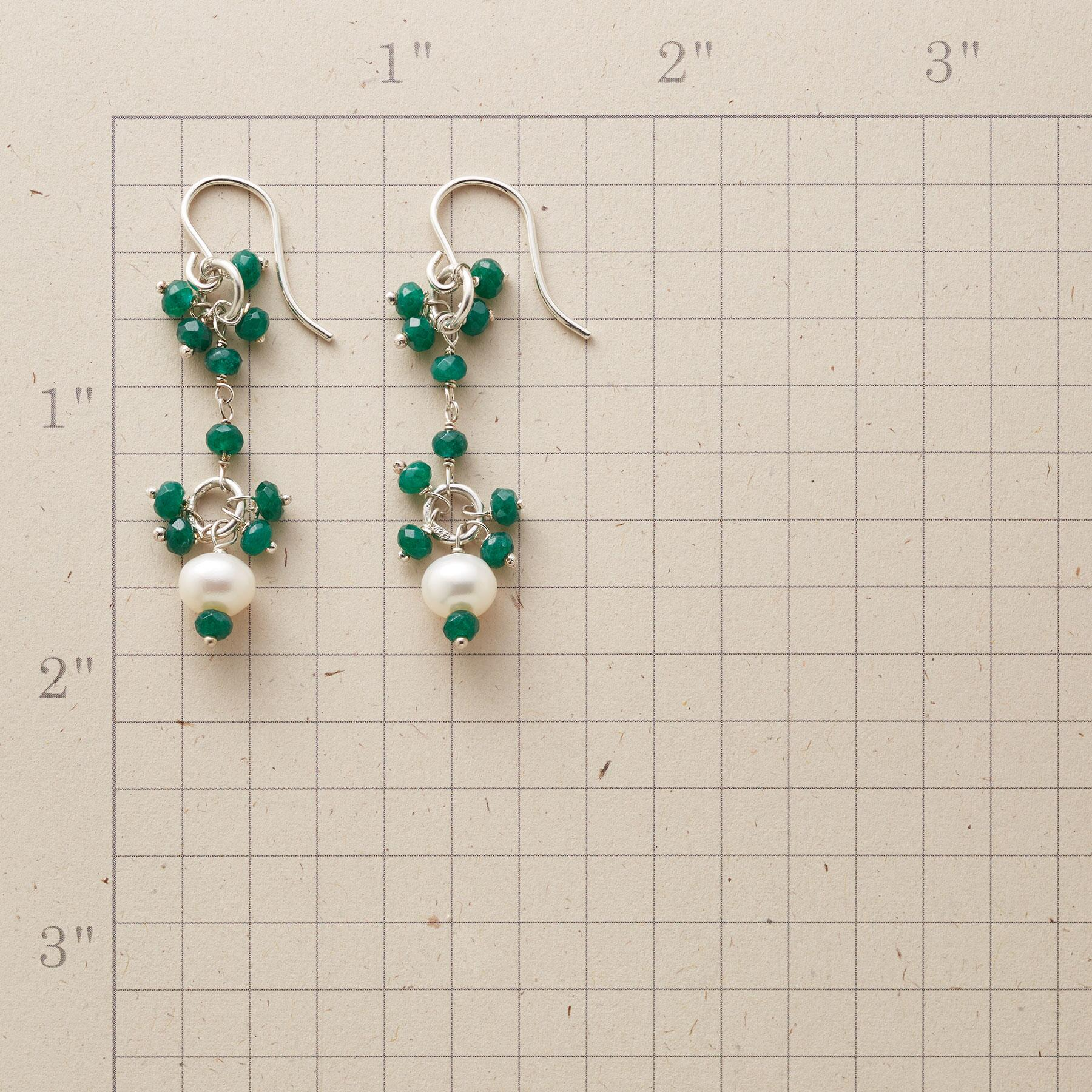 EMERALD EYELET EARRINGS: View 2