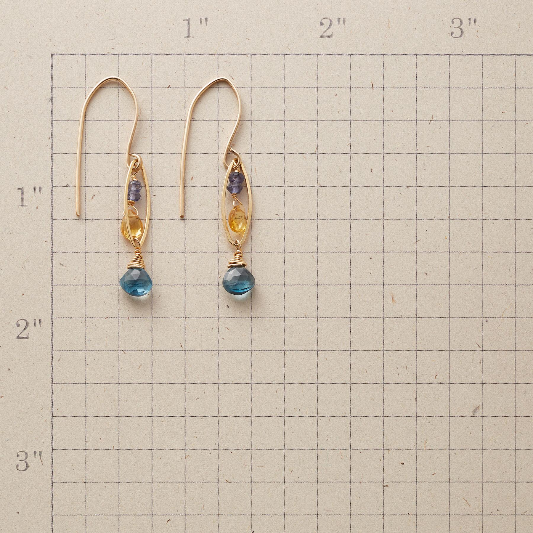 JEWELED MARQUISE EARRINGS: View 2