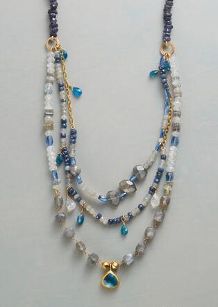 BLUE BOUNTIFUL NECKLACE