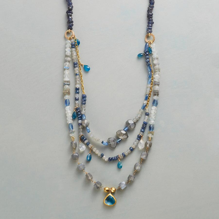 BLUE BOUNTIFUL NECKLACE