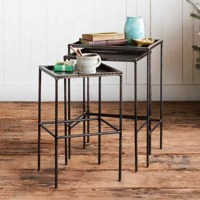 TRIPLE CROW NESTING SIDE TABLES, SET OF 3