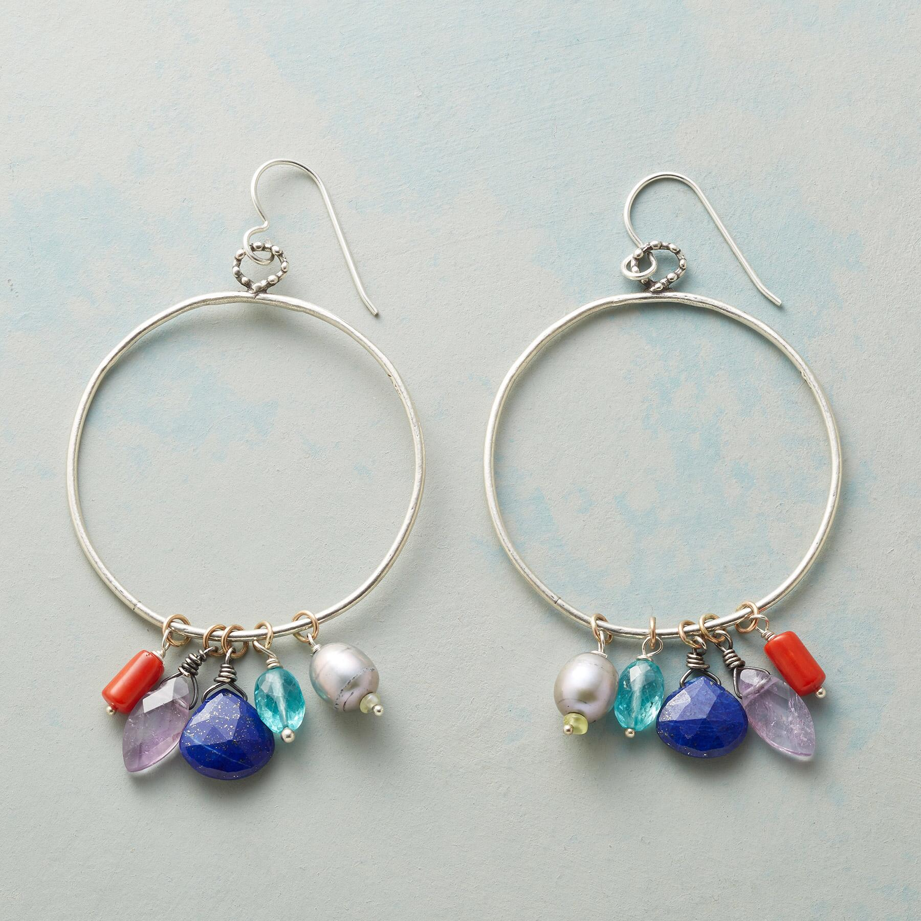DAY DREAMER HOOP EARRINGS: View 1