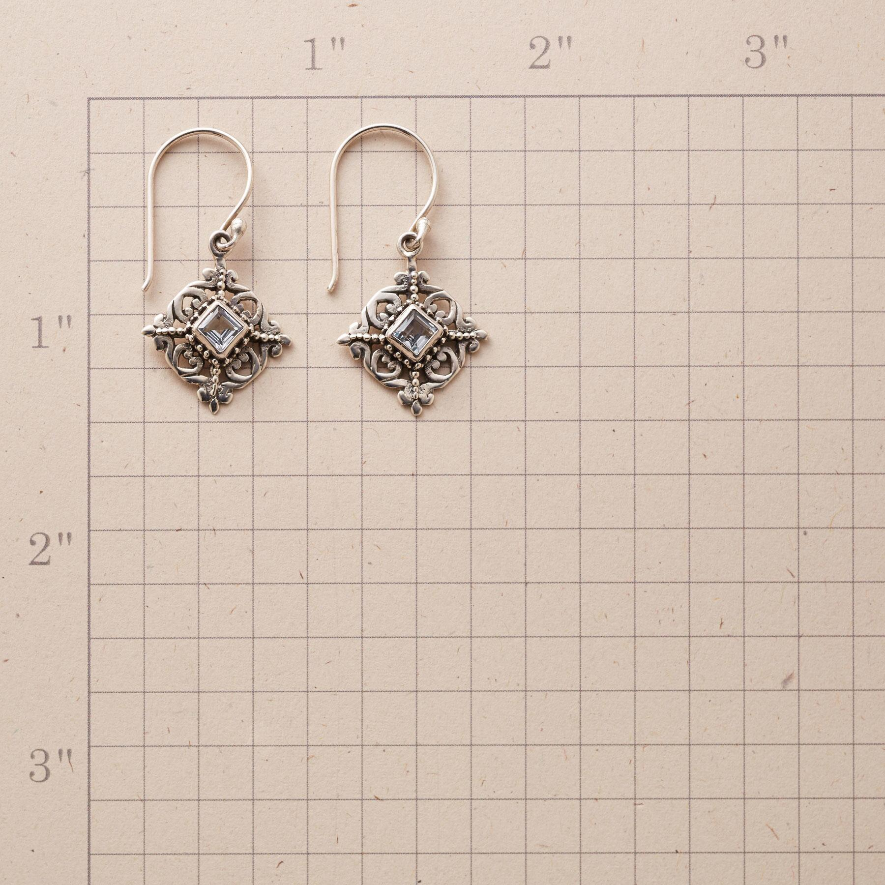 BLUE TOPAZ SNOWFLAKE EARRINGS: View 2