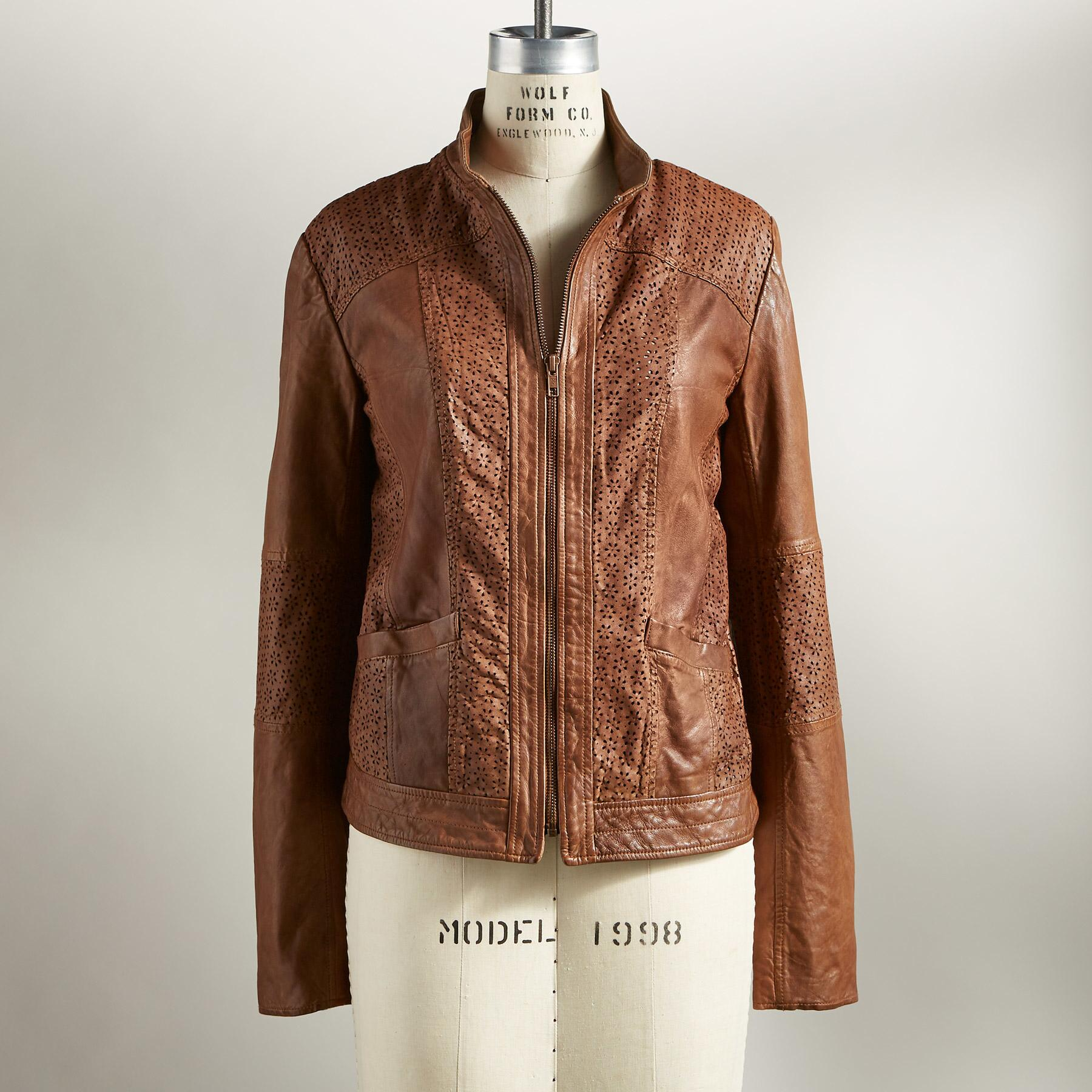 HUTTON LEATHER JACKET: View 3