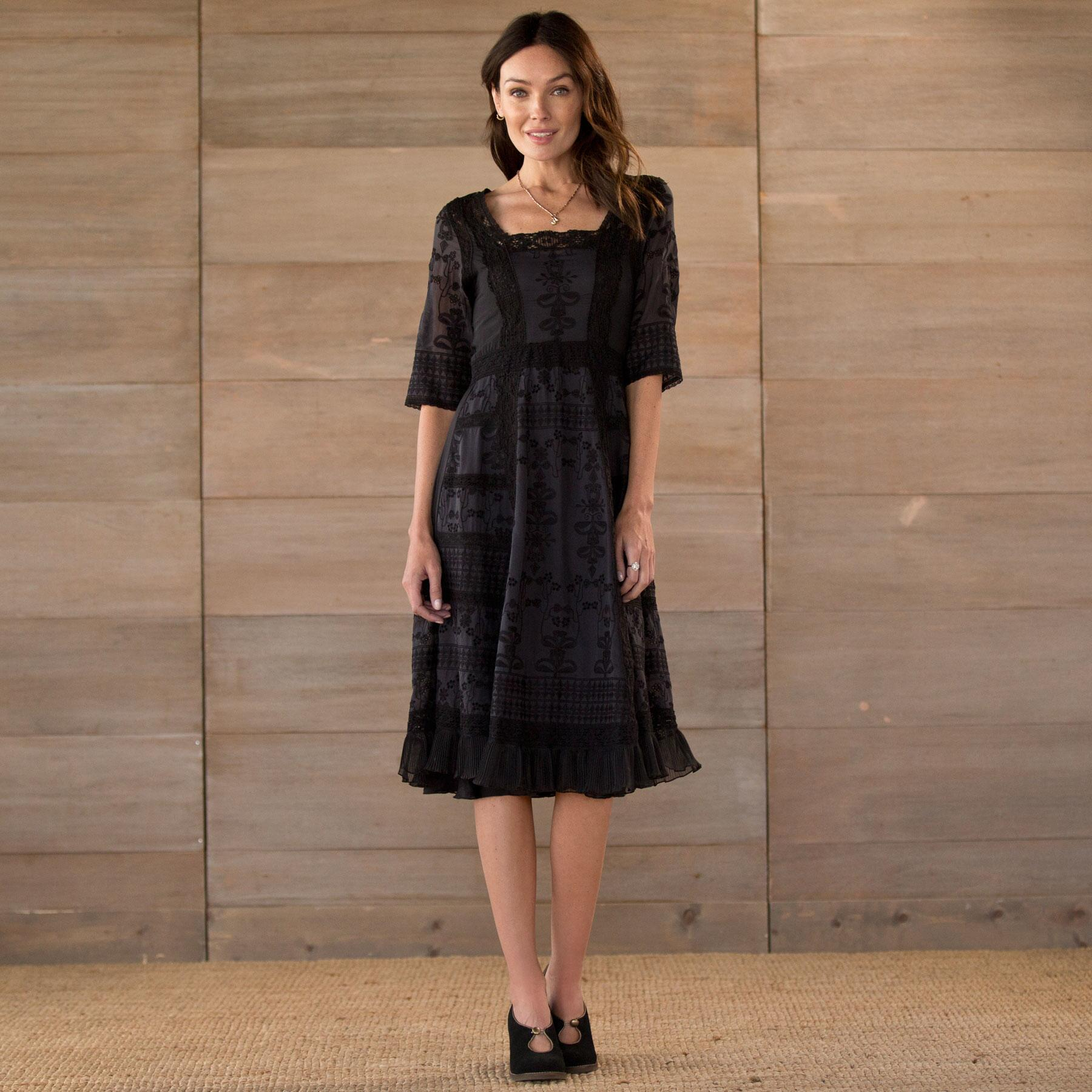 EMBROIDERED LACE DRESS: View 1