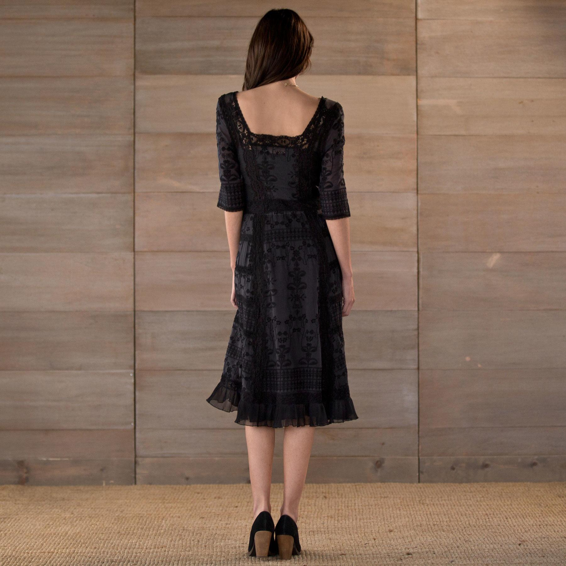 EMBROIDERED LACE DRESS: View 2