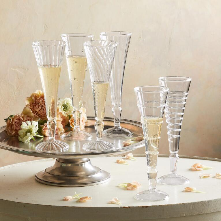 FINESSE CHAMPAGNE FLUTES, SET OF 6