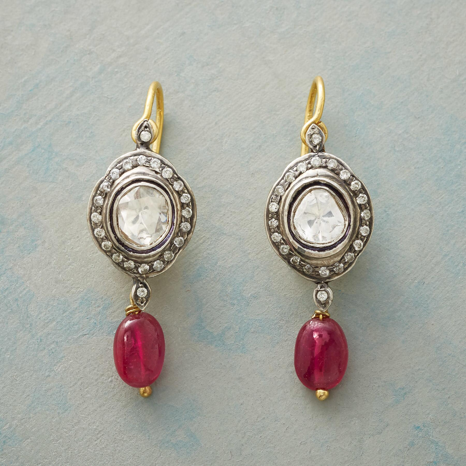 RUBY GENEVA DIAMOND EARRINGS: View 1