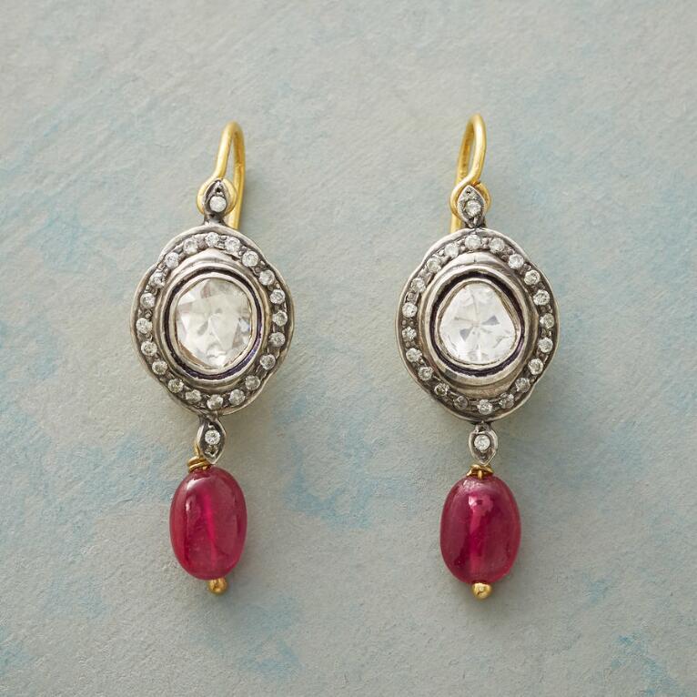 RUBY GENEVA DIAMOND EARRINGS