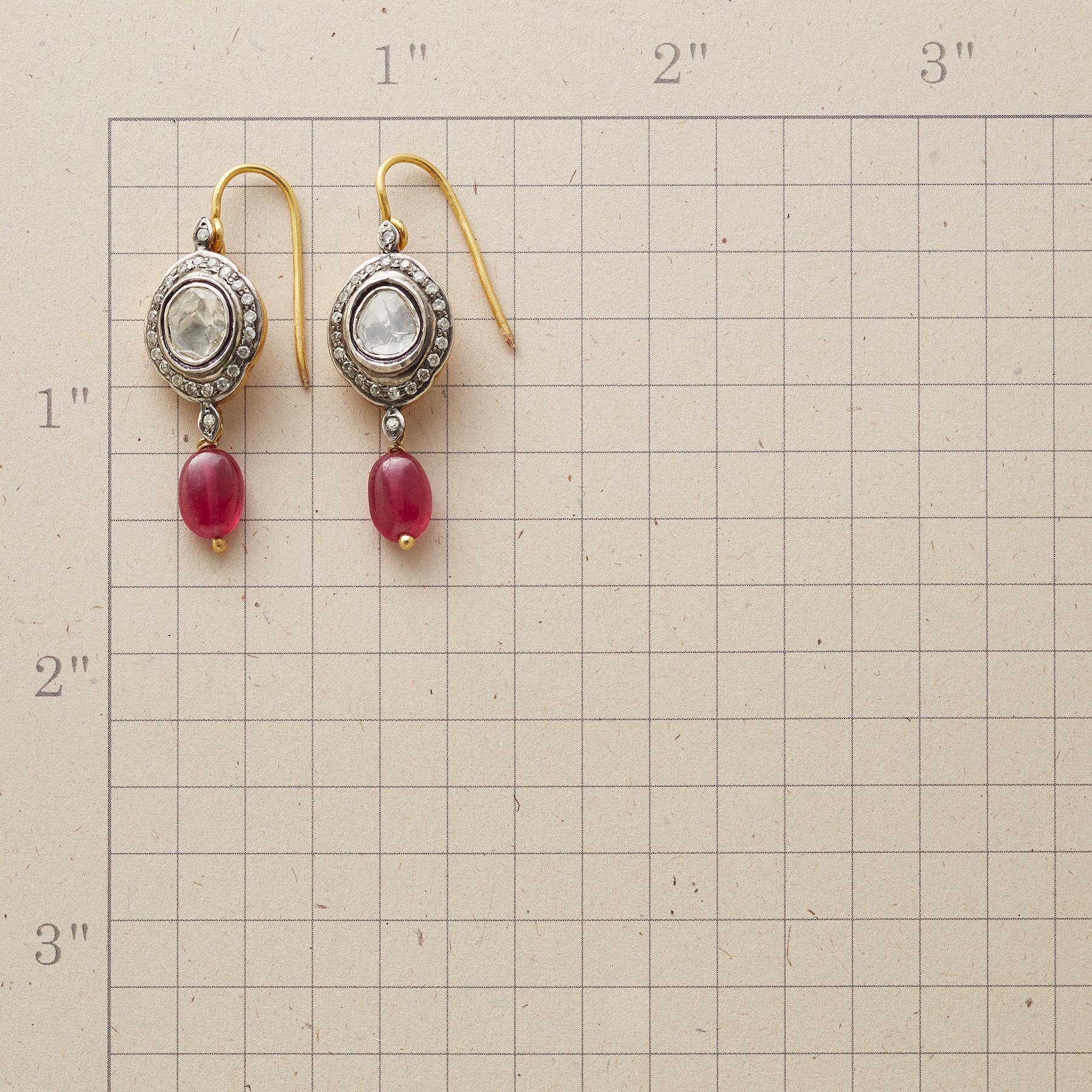 RUBY GENEVA DIAMOND EARRINGS: View 2